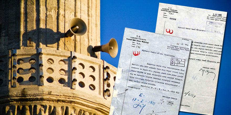 Arapça ezan ve Kur'an alfabesini yasaklayan belgeler