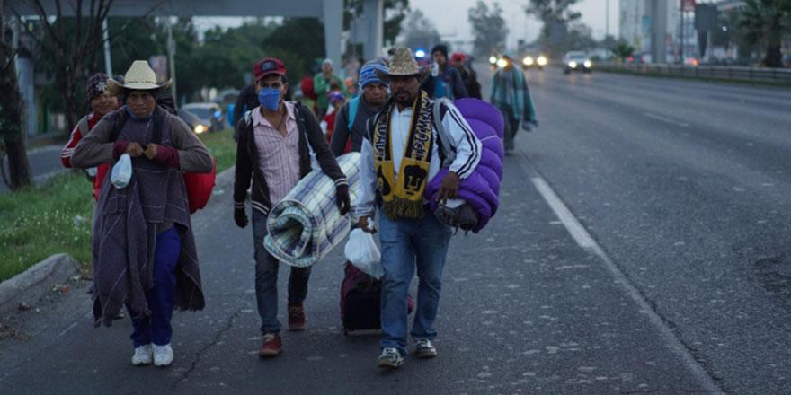 Orta Amerikalı göçmenler yola kaldığı yerden devam ediyor