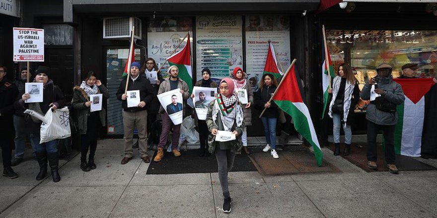 New York'ta İsrail protestosu düzenlendi