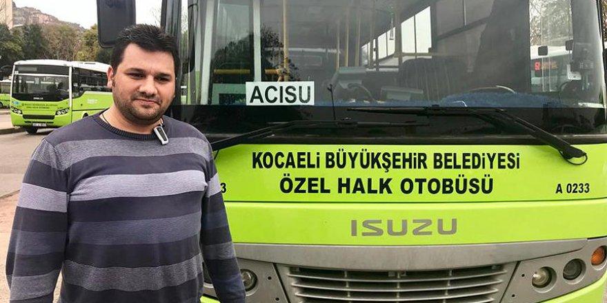 Kocaeli'de otobüs şoföründen örnek hareket