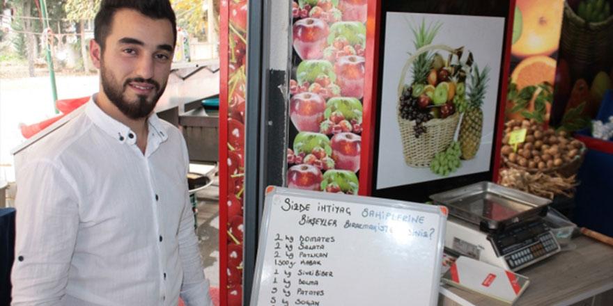 'Askıda meyve, sebze' ile ihtiyaç sahiplerine destek