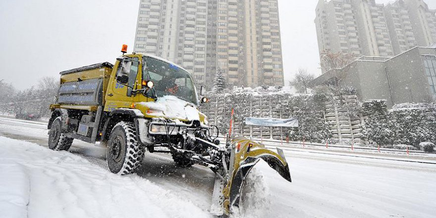 Ankara Büyükşehir Belediyesi kış tedbirlerini aldı