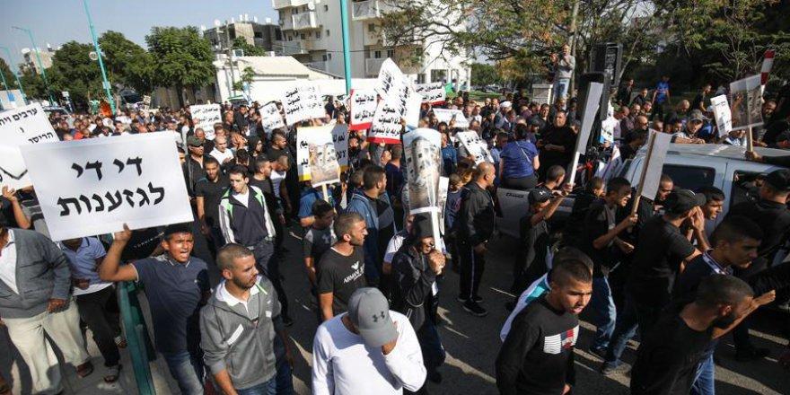 İsrail'deki Araplar protesto gösterisi düzenledi