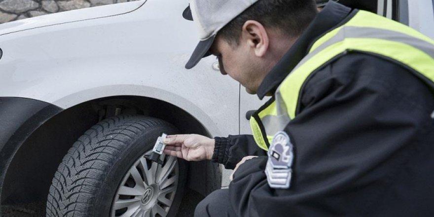 Geçtiğimiz dönem binlerce sürücüye kış lastiği cezası kesildi