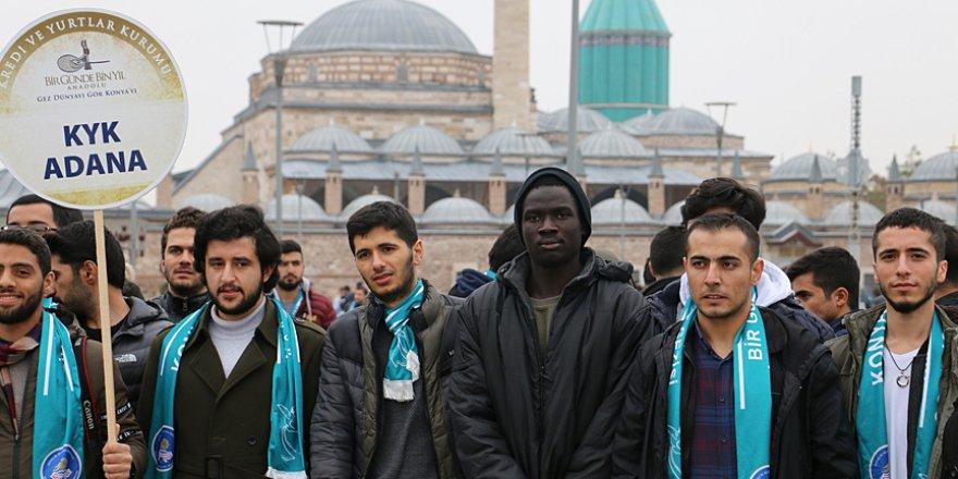 KYK'da kalan 650 öğrenci Konya'yı gezdi