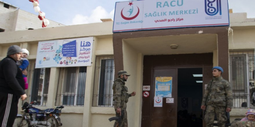 Türkiye'den Afrin'in Racu beldesine sağlık merkezi