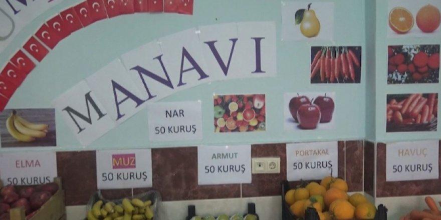 Kahramanmaraş'ta 'sorumluluk manavı' açıldı