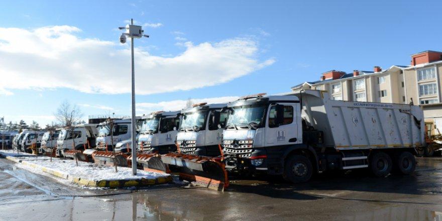 Erzurum'da karla mücadeleye dev bütçe ve kadro