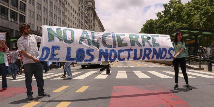 Arjantin'de öğretmenlerden protesto