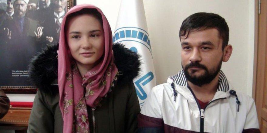 Kütahyalı genç ile evlenen Ukraynalı Müslüman oldu