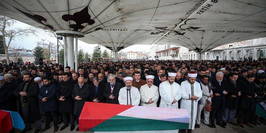 Filistin'in İstanbul Başkonsolosu Hatip son yolculuğuna uğurlandı
