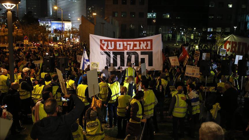 Sarı Yelekliler Hareketi İsrail'e sıçradı