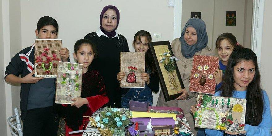Suriyeli kadın hakimden el işiyle rehabilitasyon