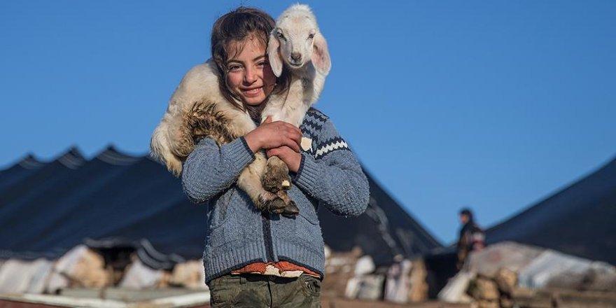 Göçer aileler çetin kış şartları ile karşılaştı