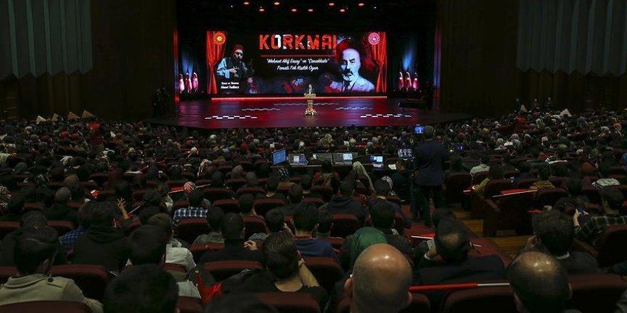 Mehmet Akif Ersoy 'Korkma' ile anıldı