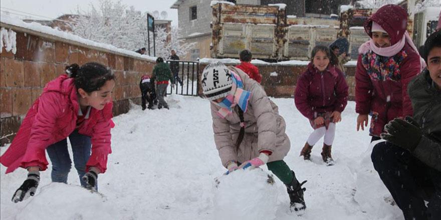 Kar yağışı nedeniyle okulların tatil edildiği iller