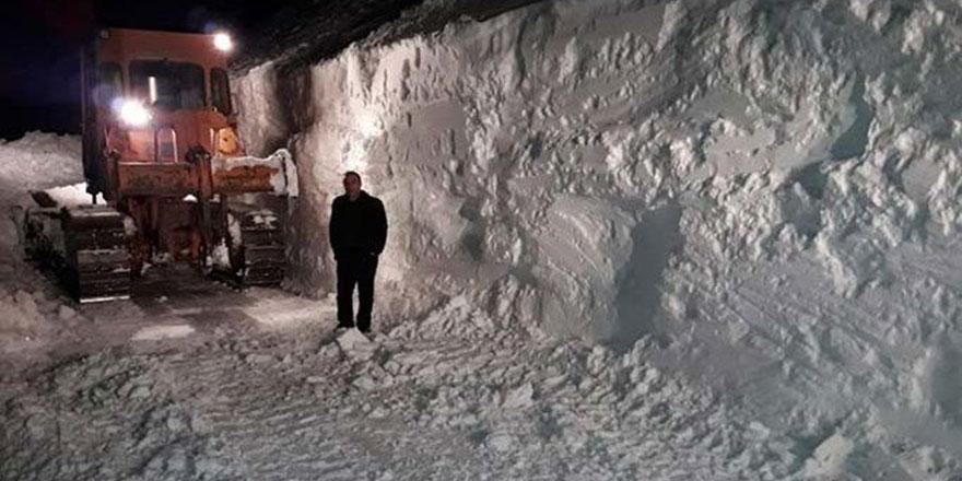 Bingöl'de kar kalınlığı 3 metreyi aştı