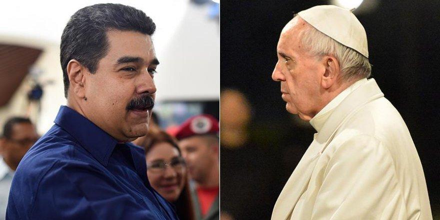 Maduro çareyi Papa'ya yazmakta buldu