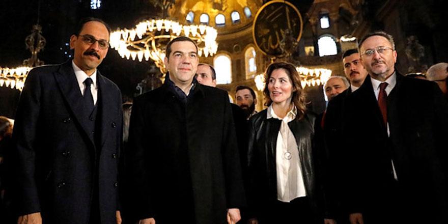 Yunanistan Başbakanı Çipras Ayasofya Camiinde