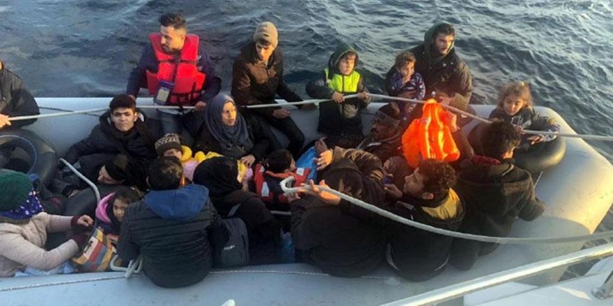 Didim açıklarında 86 kaçak göçmen yakalandı