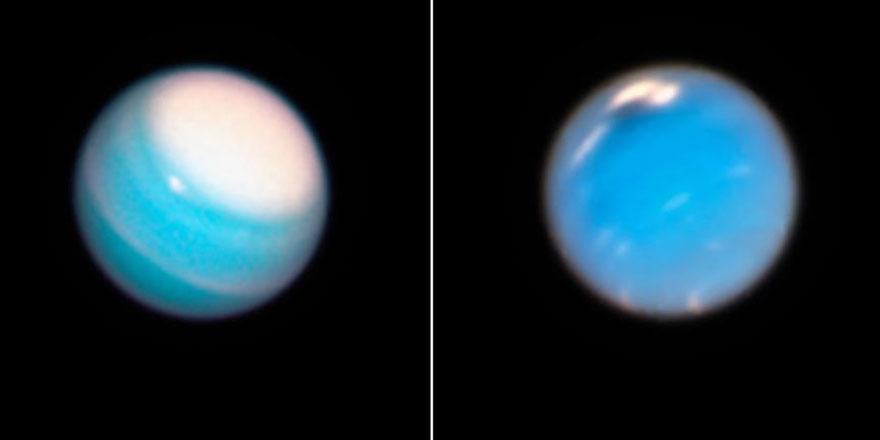 Neptün ve Uranüs'teki parlak devasa fırtınalar görüntülendi