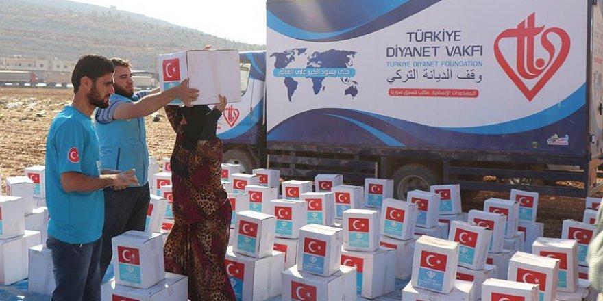 Türkiye Diyanet Vakfı'ndan Suriyelilere yardım eli