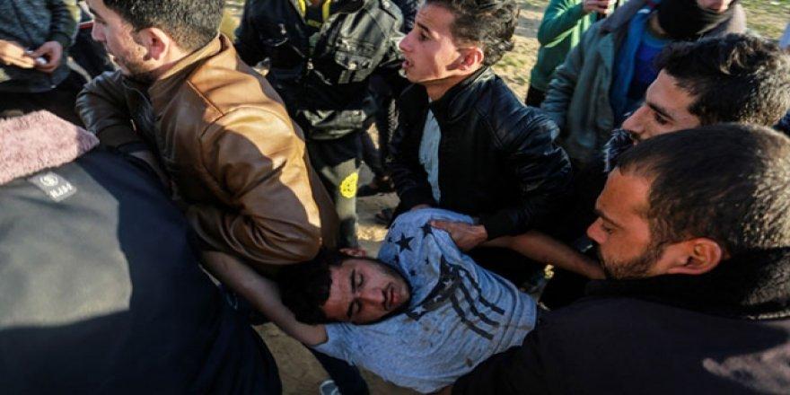 İşgalci İsrail Gazze'de saldırdı: 9 yaralı