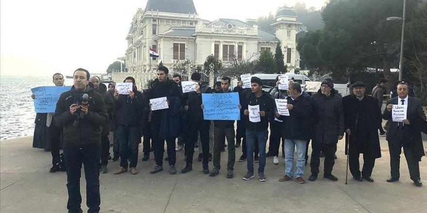 Mısır Konsolosluğu önünde 'idam' protestosu