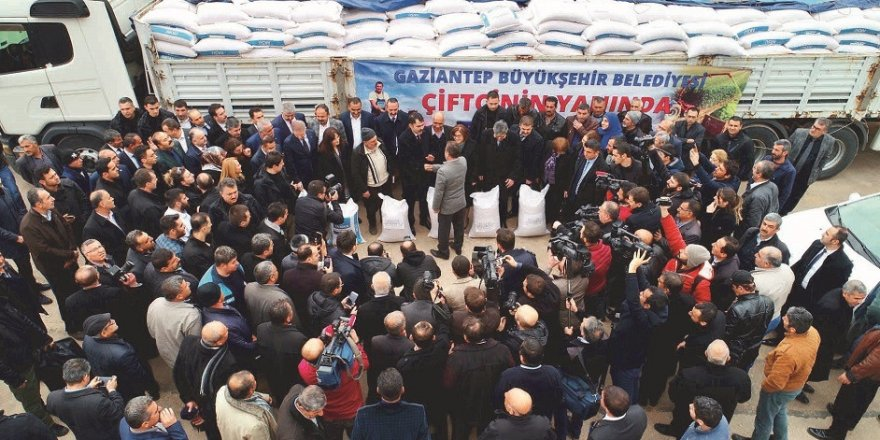 Gaziantepli çiftçilerin yüzü tohum desteği ile güldü