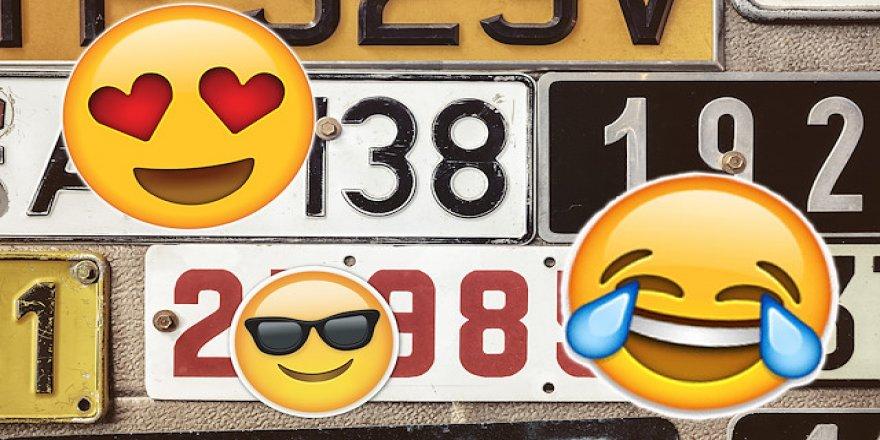 Emoji çılgınlığı plakalara sıçradı