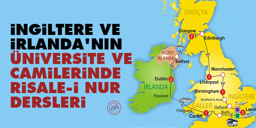 İngiltere ve İrlanda'nın üniversite ve camilerinde Risale-i Nur dersleri