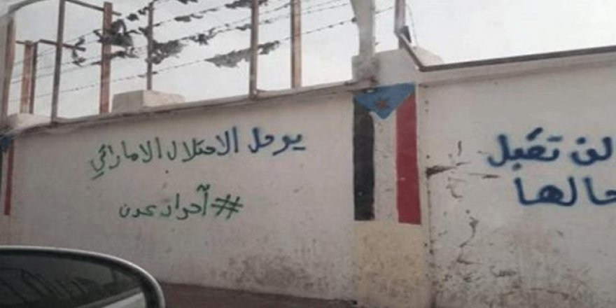 Yemen'de duvarlara Birleşik Arap Emirlikleri karşıtı sloganlar yazıldı