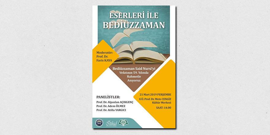 Bursa'da Bediüzzaman Said Nursi programı