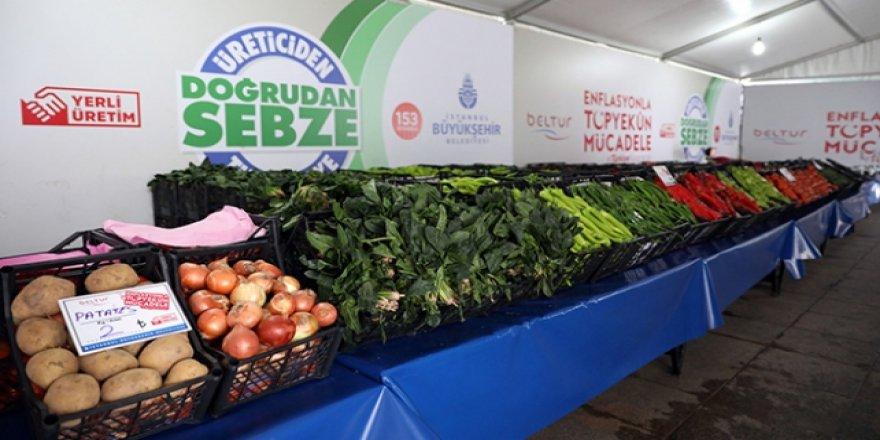 Tanzim noktalarında 14 bin ton meyve-sebze satıldı