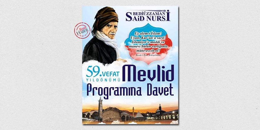 Diyarbakır Said Nursi Mevlidi'ne hazırlanıyor