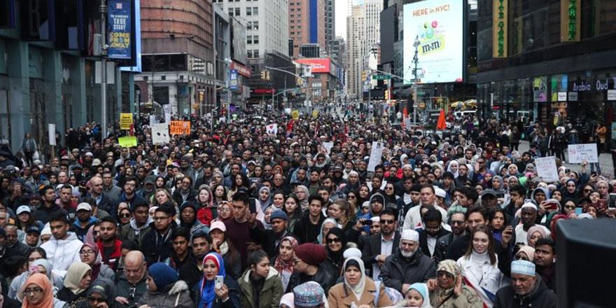 New York'ta İslamofobi'ye karşı ''birlik'' protestosu