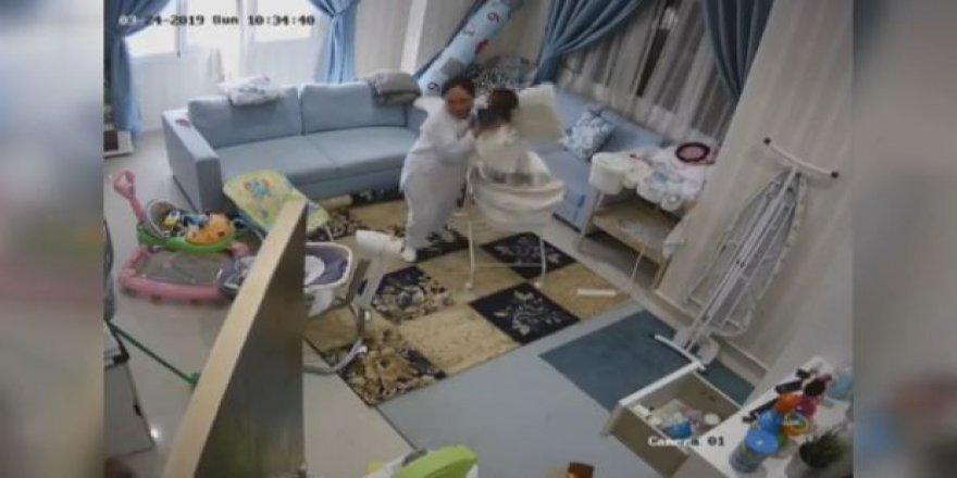 Kuveyt'te bir dadı tavan çökmeden saniyeler önce bebeği kurtardı