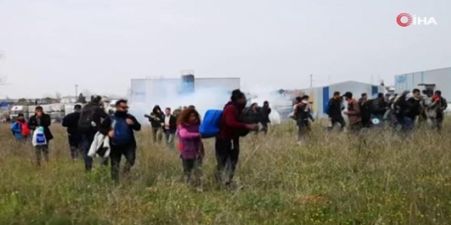 Yunanistan'da göçmenlerle polis arasında çatışma