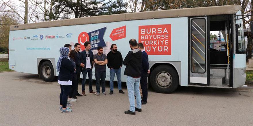 120 bin ek istihdam için Bursa'yı dolaşıyor