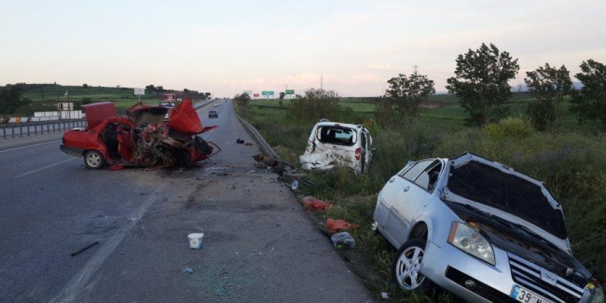 Bursa-İzmir yolunda kaza: 7 yaralı