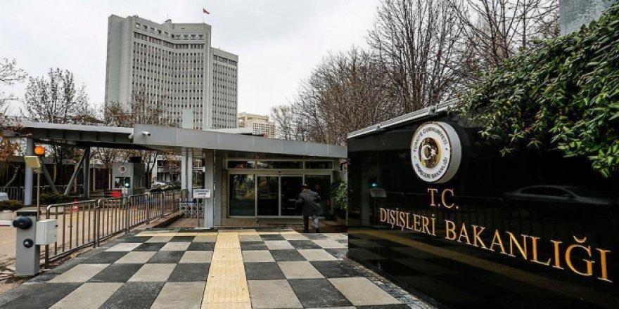 Dışişleri Bakanlığı: ABD'nin Ankara Büyükelçiliğinin çağrılarını esefle karşılıyoruz