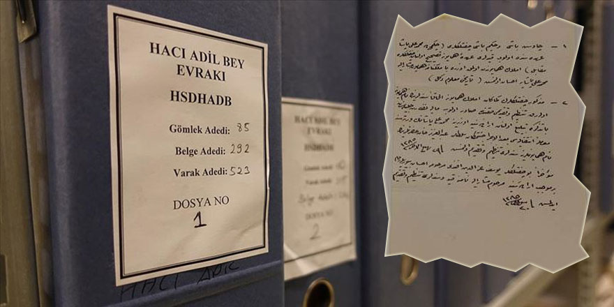 İttihat ve Terakki dönemine ait 1283 belge Devlet Arşivine hibe edildi