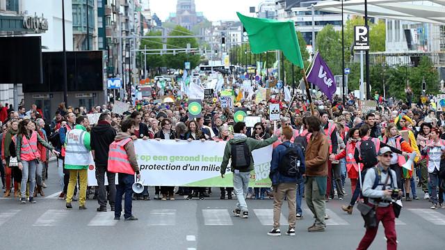 Belçika'da küresel ısınma karşıtı gösteri