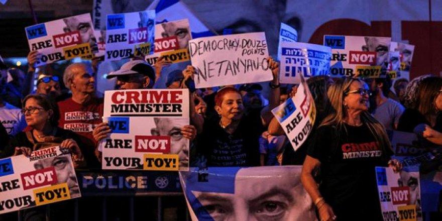 İşgalci İsrail'e başkentinde protesto şoku
