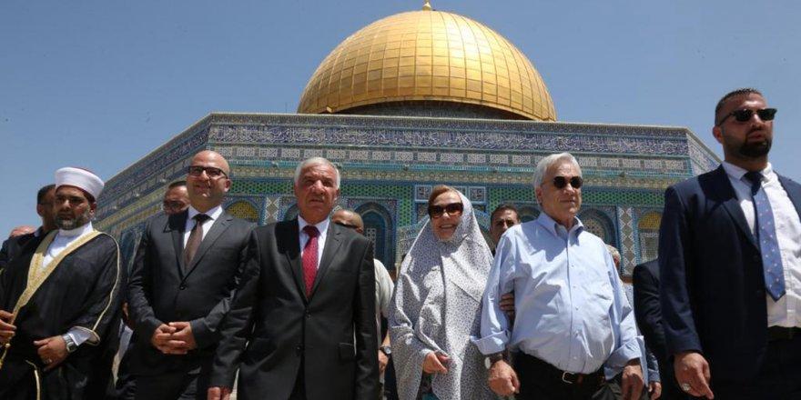 Şili Devlet Başkanı'nın Mescid-i Aksa ziyareti İsrail'i huzursuz etti
