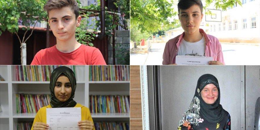 LGS'de birinci olan 4 öğrenci Güneydoğu'nun gururu