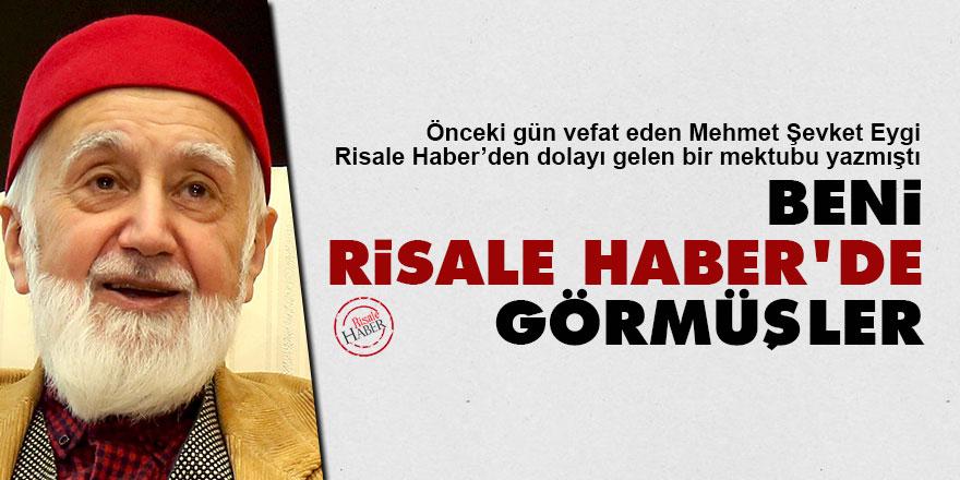 Mehmet Şevket Eygi: Beni Risale Haber'de görmüşler