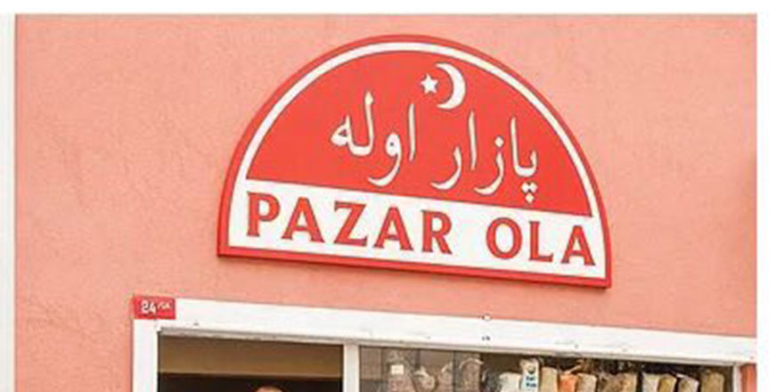 Arap harfi var diye Osmanlıca Türkçeli tabelayı da kaldırdılar!