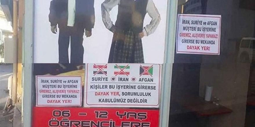 'İran, Suriye, Afgan müşteri bu dükkâna giremez' yazısına mahkemeden uyarı