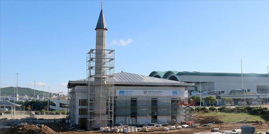 Sabiha Gökçen Havalimanı Camisi inşaatında sona gelindi